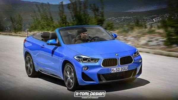 Дизайнер представив новий BMW X2 в кузові кабріолет і пікап