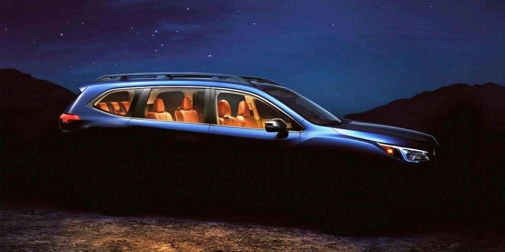 Subaru показала новий семимісний кросовер Ascent на тизері