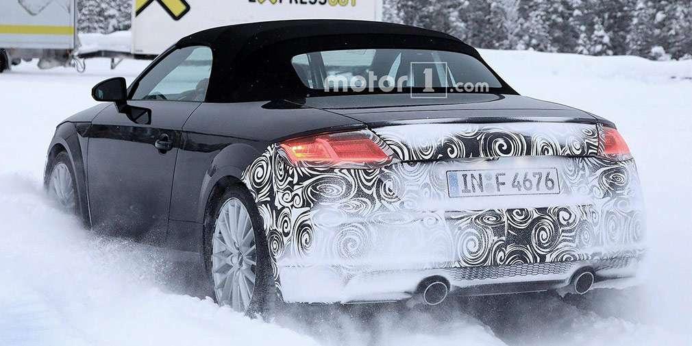 Audi вивела на тести оновлений родстер Audi ТТ