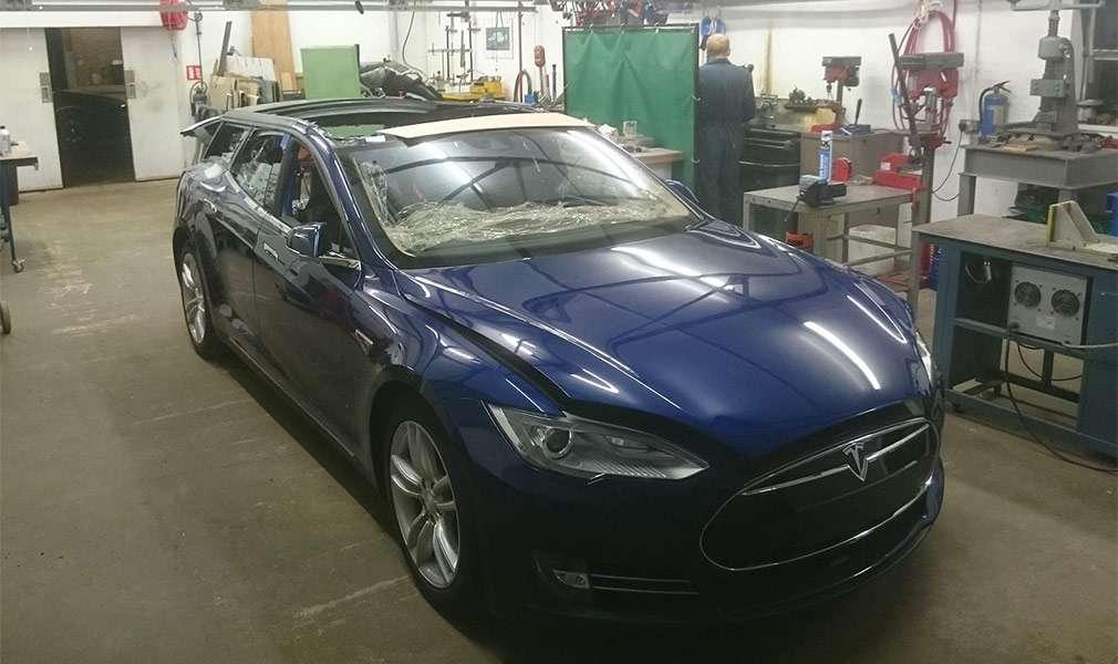 Електрокар Tesla Model S перетворили в найшвидший універсал в світі