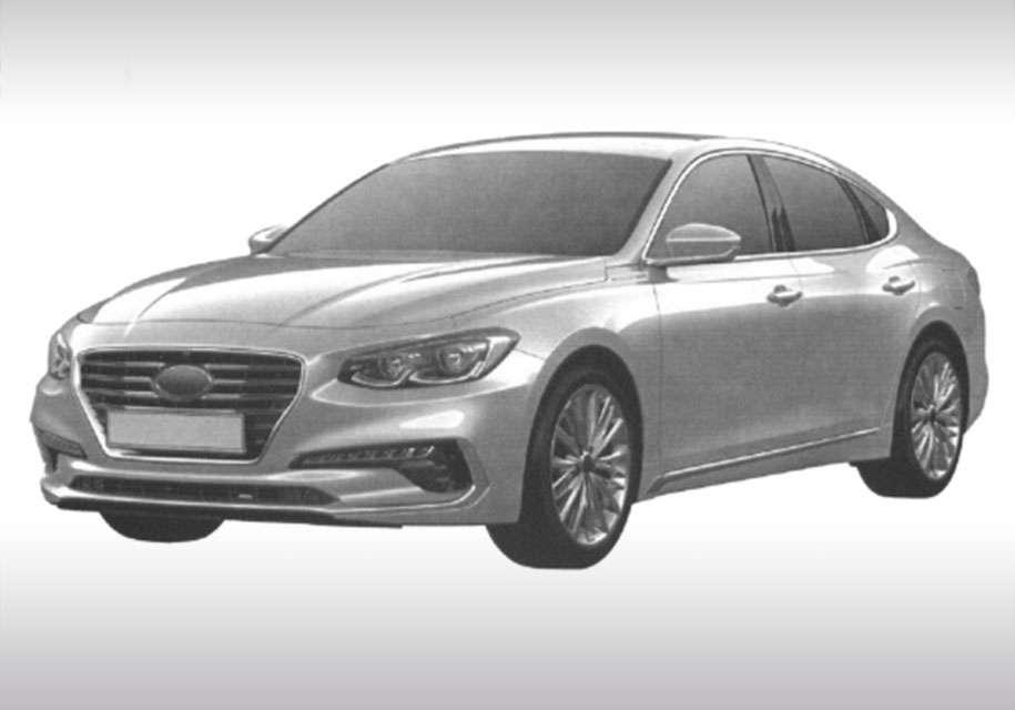 Hyundai запатентувала новий великий седан Grandeur для Росії