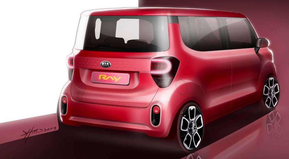 Оновлений компактвен Kia Ray розсекречений на дизайн-скетчах