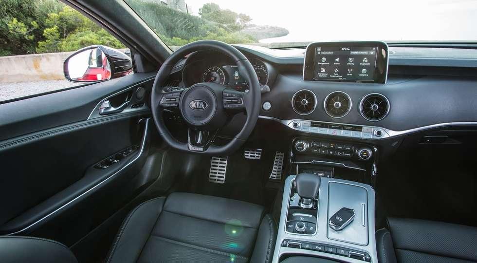 Kia назвала рублеві ціни на всі комплектації нового Kia Stinger